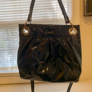 Patent Leather Blue Coach Crossbody Bag